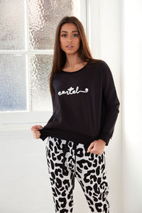 Cartel Cursive Sweater - Black