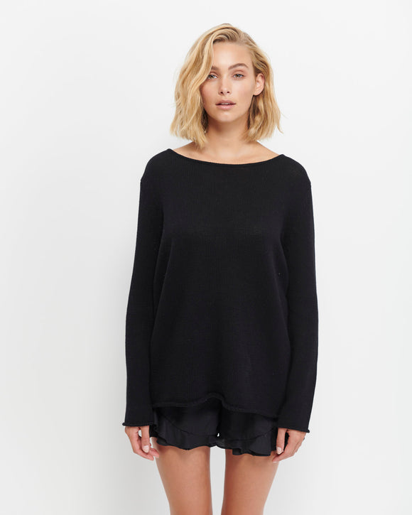 Aurora Cotton Knit - Black