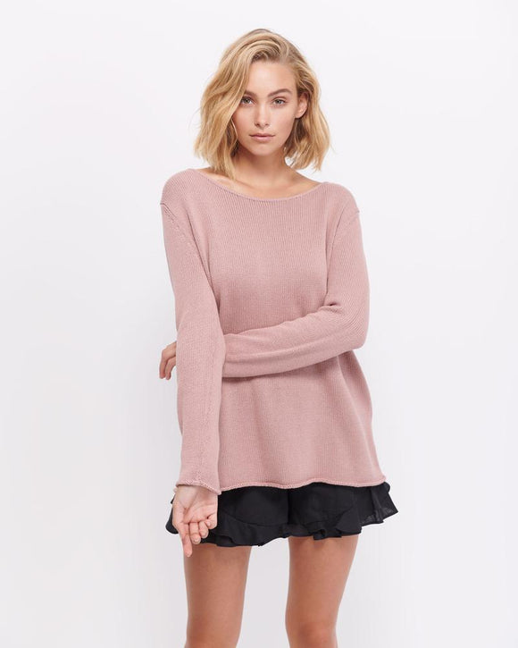 Aurora Cotton Knit - Dusty Pink