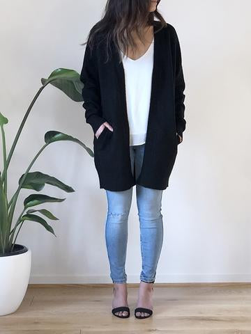 Brooklyn Short Cardigan - Black