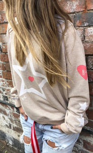 Oatmeal Star Sweat