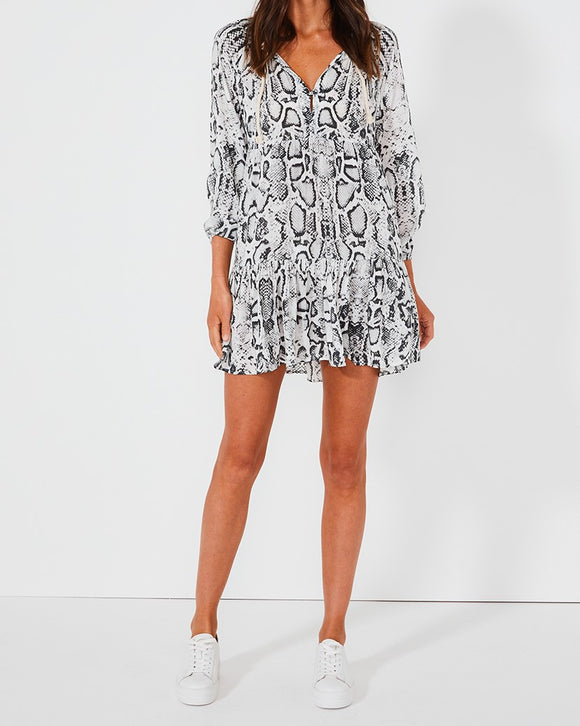 Cali Shirt Dress - Snake