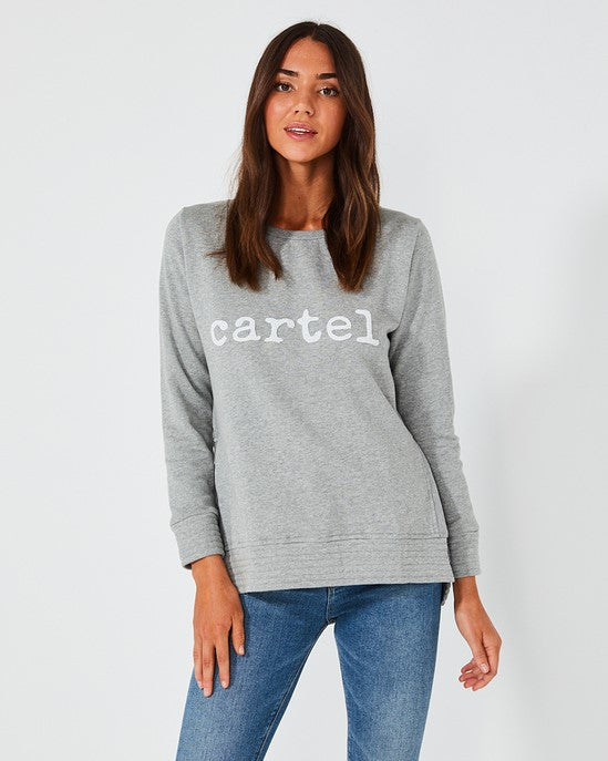Cartel Beaded Sweater - Grey