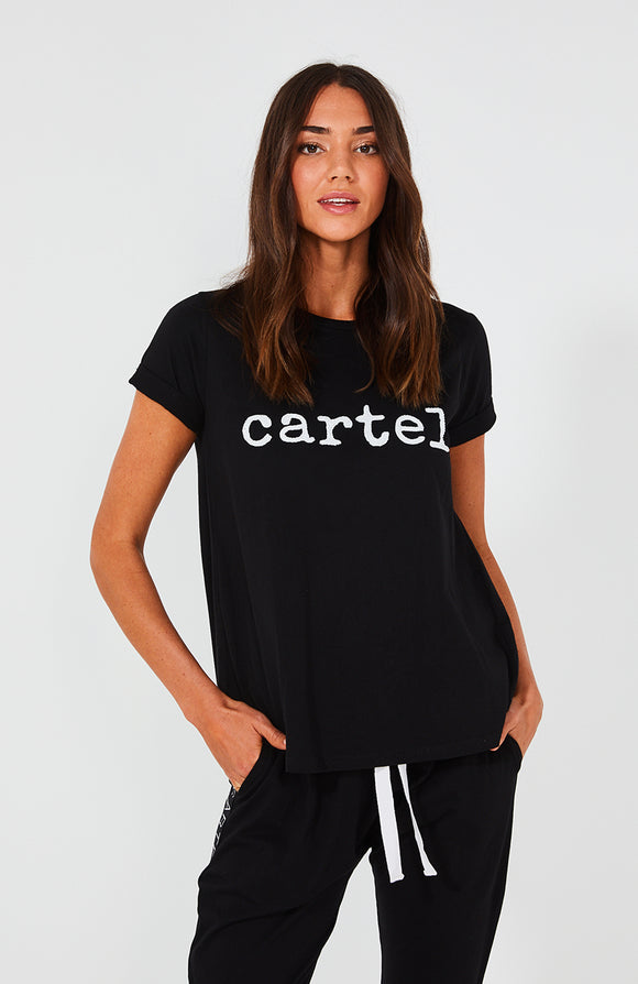 Cartel Beaded Tee - Black
