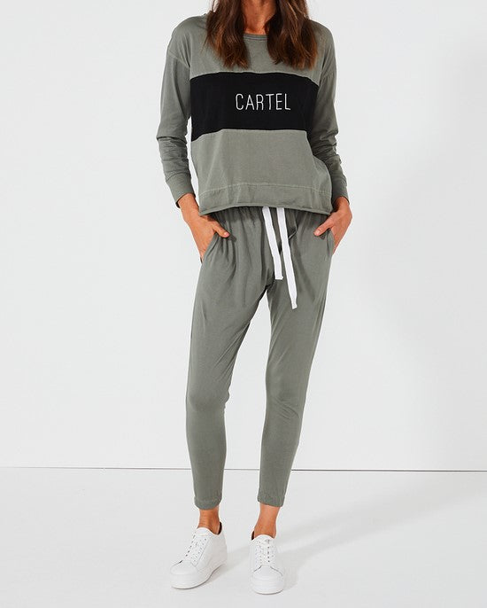 Cartel Block Long Sleeve Top - Sage
