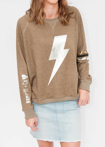 Shimmer Sweat Khaki