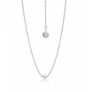 Pistil Necklace - Silver & Pearl