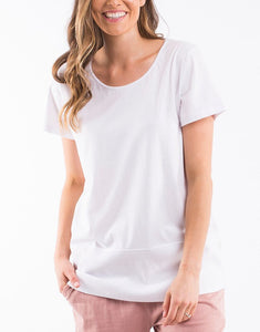 Rib Short Sleeve Tee - White