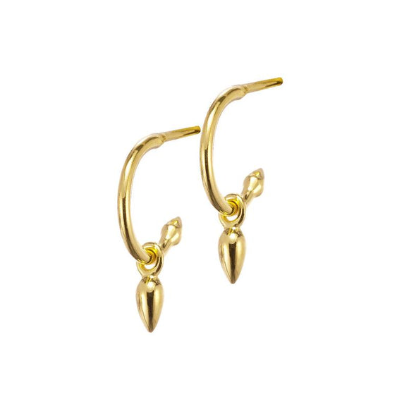 Anther Hoop Earrings - Gold