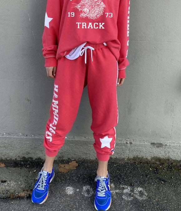 Varsity Track Pant - Red