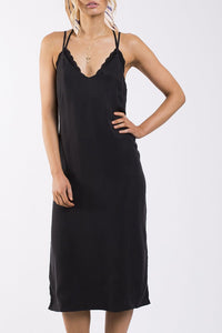 Dahlia Slip Dress - Black