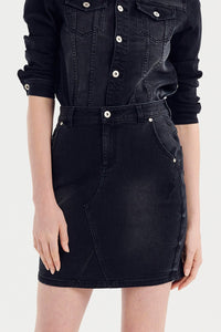 Denim Skirt - Black Wash