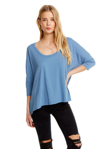 S/S Boxy Seamed Back Tee - Reef