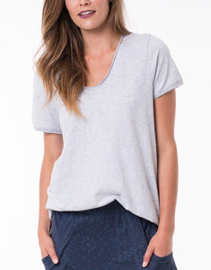 Fundamental Vee Tee - Grey Marle