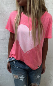 We Love Summer Tee - Hot Pink