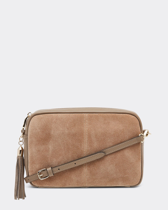Holly Suede Bag - Mocha