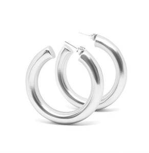 Cicciolina Hoops - Soft Matte Silver