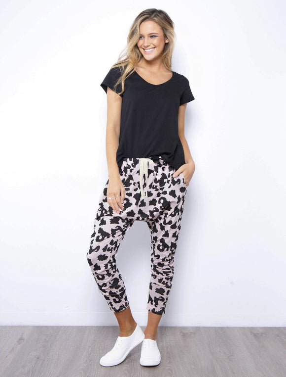 Lounge Pant - Blush Leopard