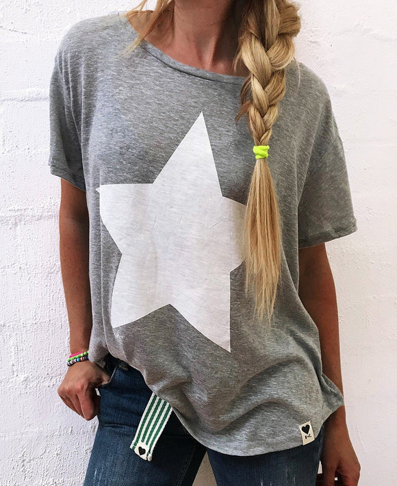 Summer Tee - Grey Marle Star