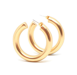Cicciolina Hoops - Soft Matte Gold