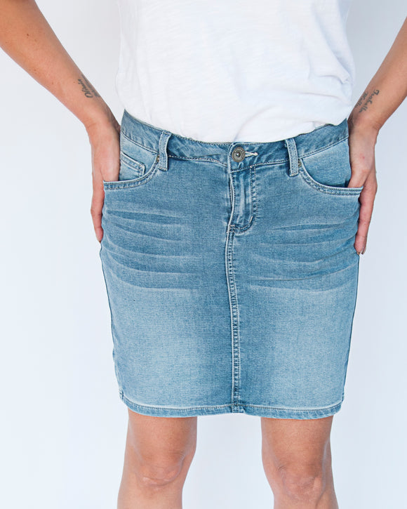 Positano Denim Skirt