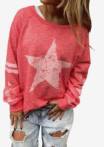 Stars & Stripe Sweat - Washed Red