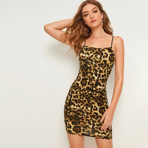 Leopard Print Bodycon Cami Dress
