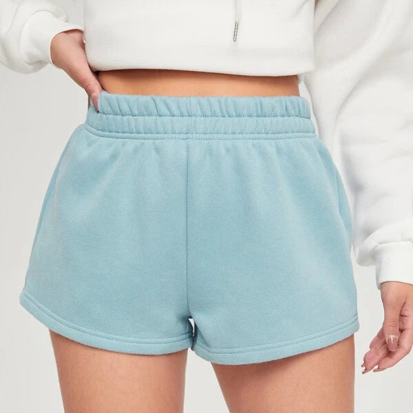 Elastic Waist Sweat Shorts