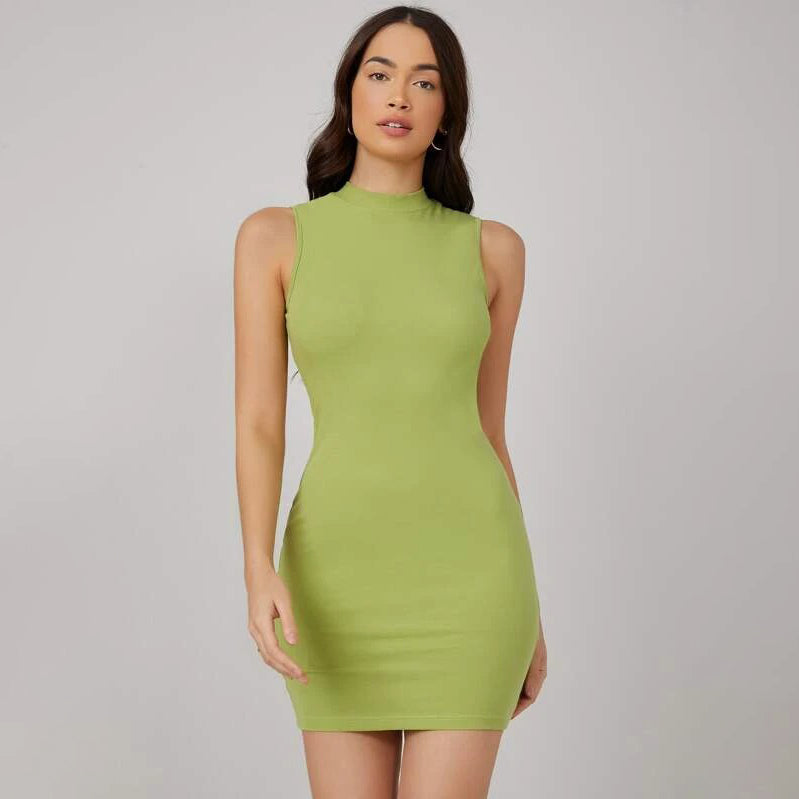 BASICS Mock-Neck Bodycon Dress