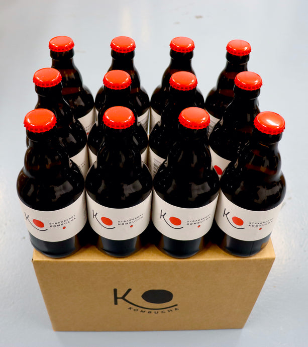 Organic KO Kombucha Strawberry 12 Case
