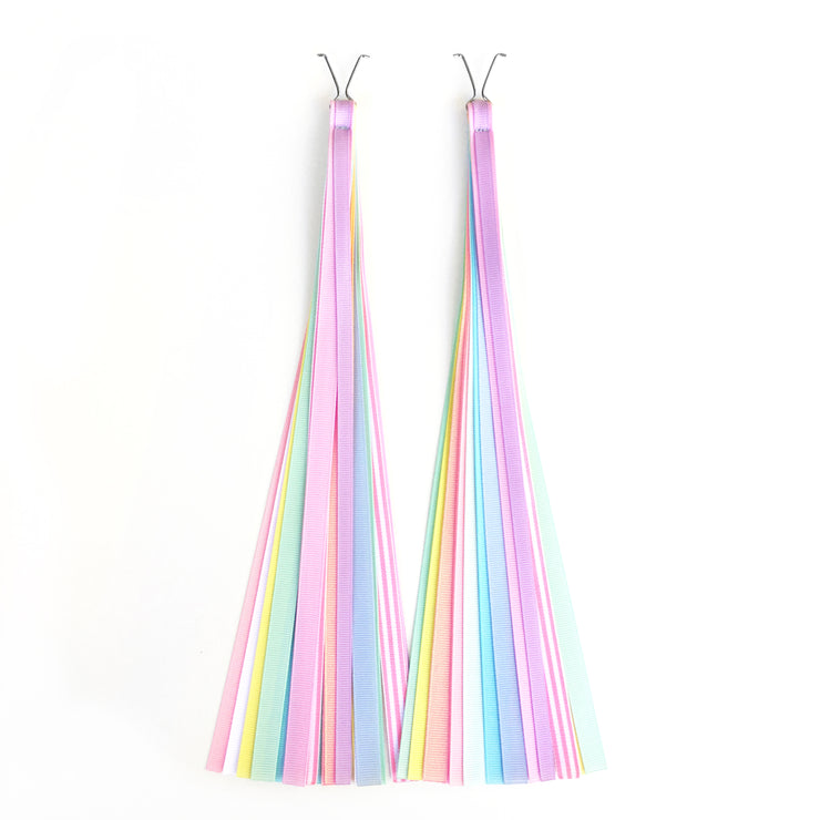 Pastel Bike Streamers on white background