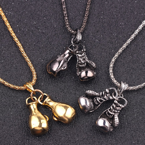 Boxing Gloves Pendant Necklaces