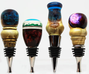 Hand Turned Wood and Acrylic Wine Stoppers