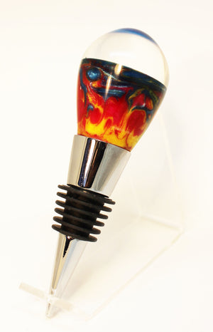 Hand Turned Acrylic Wine Stopper