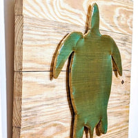 Sea Turtle Wood Art