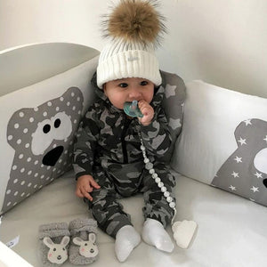 Camouflage Hooded Jumpsuit