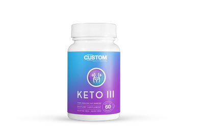 Keto III  — Aids Healthy Fat Burning - Custom Health Centers