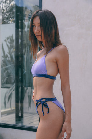 Ivy Top - Violet Satin