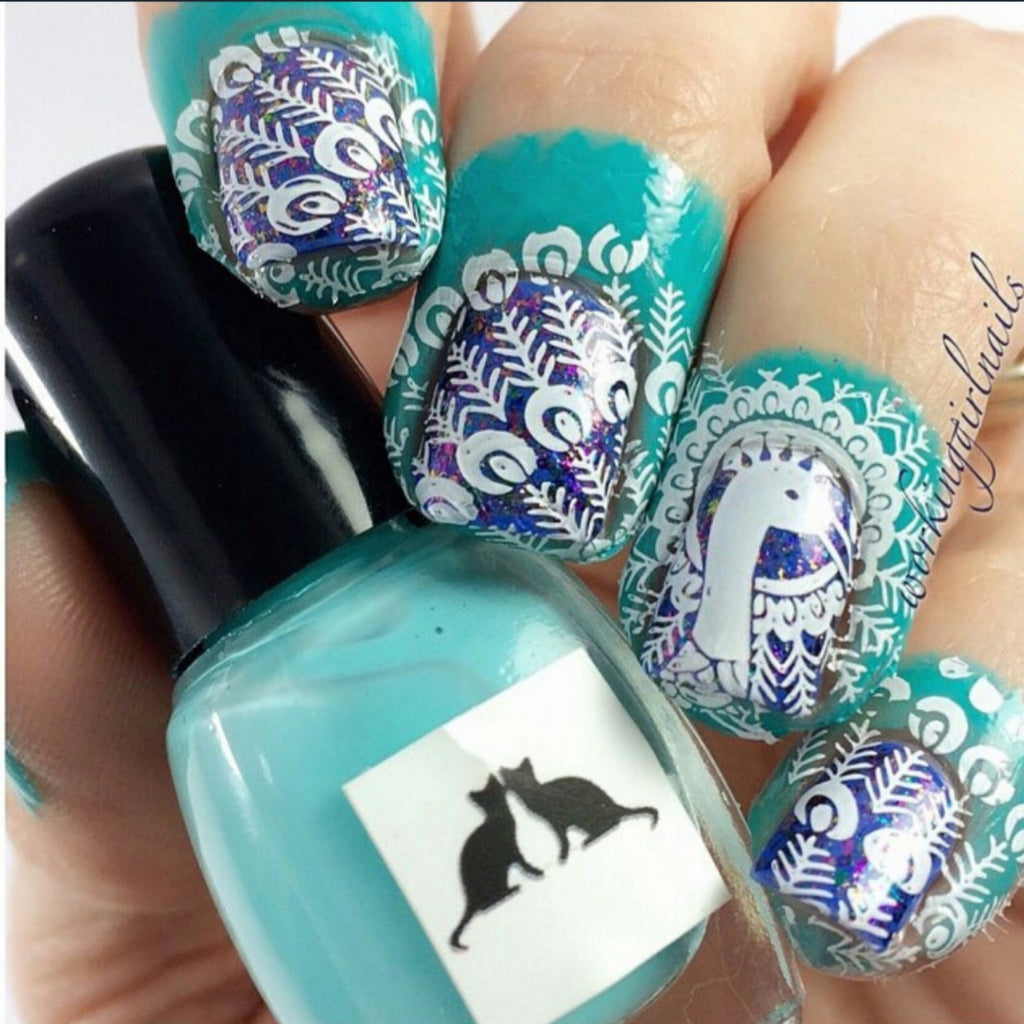 Kitty kaps azure (liquid nail tape: latex)