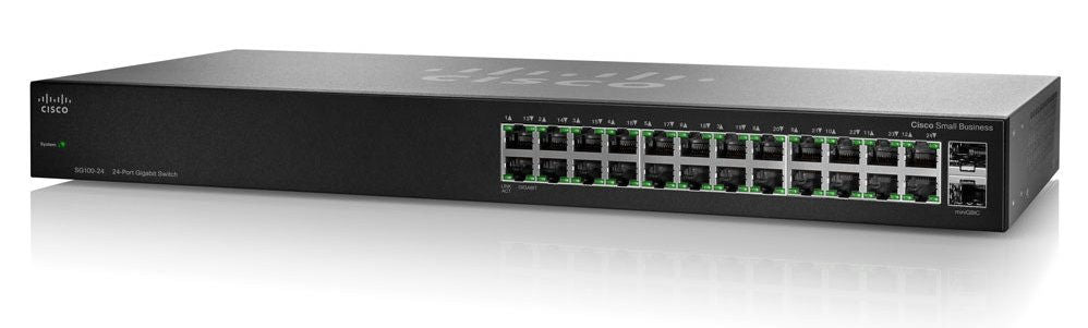 Switch Cisco Gigabit Ethernet SG110-24, 24 Puertos 10/100/1000Mbps + 2 Puertos SFP, No Administrable