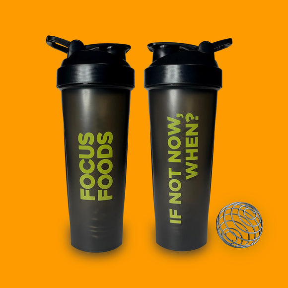 Focus Foods Shaker Bottle - 800ml with spring ball