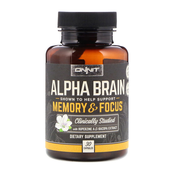 Onnit - Alpha Brain 30 capsules Nootropic Brain Supplement