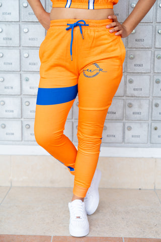 Coco Crowns by Valencia Coraine Orange Joggers