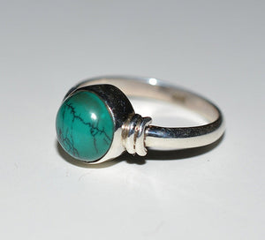 Turquoise Ring 925 Solid Sterling Silver Handmade Celestial Ring - NavyaCraft