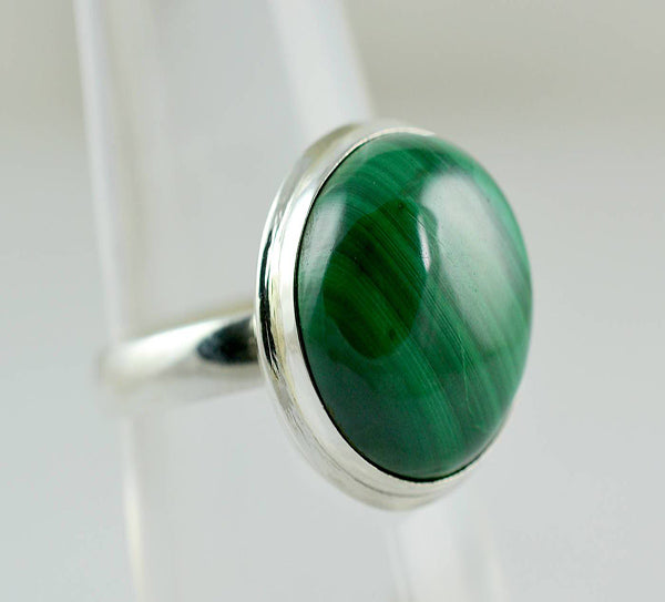 Malachite 925 Solid Sterling Silver Handmade Illusion Ring - NavyaCraft