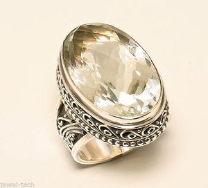 Citrine 925 Solid Sterling Silver Handmade Imperial Ring - NavyaCraft