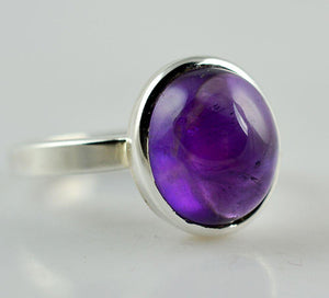 Amethyst 925 Solid Sterling Silver Handmade Clear Ring - NavyaCraft