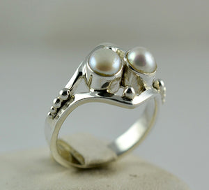Fresh Water Pearl 925 Solid Sterling Silver Believe Ring - NavyaCraft