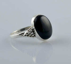 Black Onyx 925 Solid Sterling Silver Handmade Honeycomb Ring - NavyaCraft