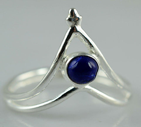 Lapis Lazuli 925 Solid Sterling Silver Handmade Arrow Ring - NavyaCraft